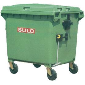 Affaldsvogn 660 l med åbningsmekanisme, Grøn