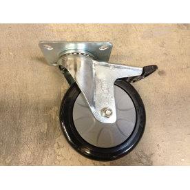 Transporthjul Ø125 mm svingbar med bremse