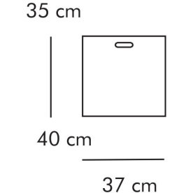 ABC Boks, 35x40 cm, hvidlaseret