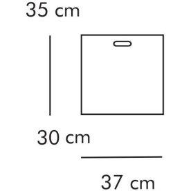 ABC Boks, 35x30 cm, hvidlaseret