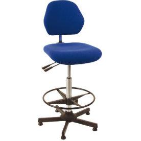 Aktiv arbejdsstol m/ fodring, blå, stof