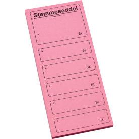 Ferco stemmeseddel 4705, 100 x 250mm, rosa