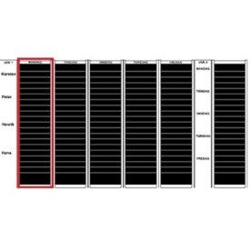 Plan-dex kortmodul A5 tværformat 30 mm, 35 stk