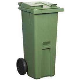 Affaldsvogn 140 l, grøn