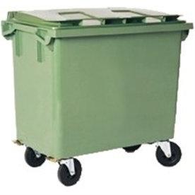 Affaldsvogn 660 l, grøn