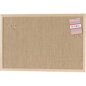 Pinboard opslagstavle, 60 x 100 cm, hessian