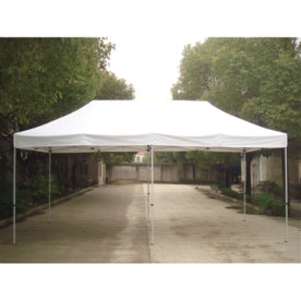 EASY UP Pavillon 3x6 m i off-white inkl. sider