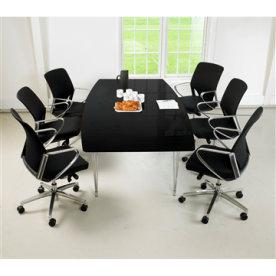 Thor konferencesæt sort bord og tillægsplade