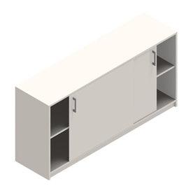 Jive+ Skydedørsskab m/4 rum m/lås hvid B160 cm