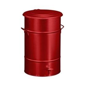 RETRO affaldsbeholder 70 l, fodpedal, Rød