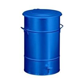 RETRO affaldsbeholder 70 l, fodpedal, Blå