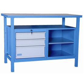 Güde arbejdsbord, 3 skuffer/1 åbent, L.120xB.60 cm