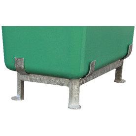 Fod til salt-/sandbeholder 400 liter, Galvaniseret