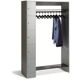 CP åben garderobe inkl. 5 opbevaringsbokse, Grå