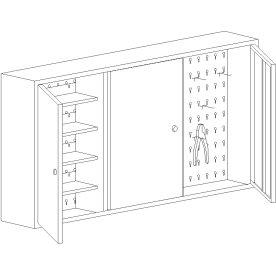 Værktøjsskab model 3, 60x120x20, Blå