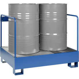 Miljøstativ 2 tønder, 260 l, HxBxD 91x120x95, Blå
