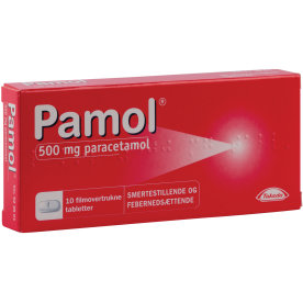 Pamol Tabletter, 500 mg, 10 stk.