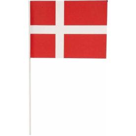 Flag på hvid plastpind, 8 stk.
