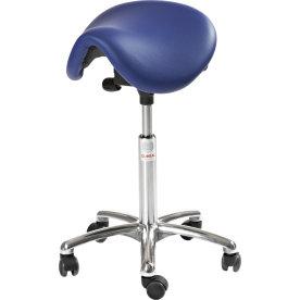 CL Dalton sadelstol, blå, kunstlæder, 58-77 cm