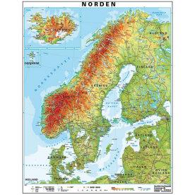 Kort over Skandinavien/Norden