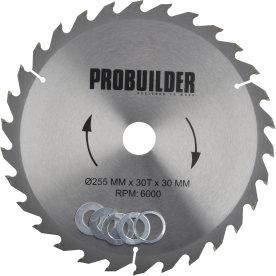 Probuilder klinge, 255x30x3 mm, t30