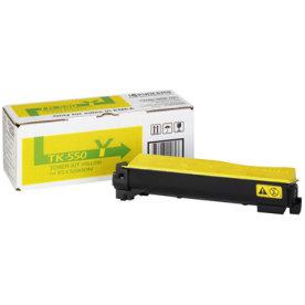 Kyocera TK-550Y lasertoner, gul, 6000s
