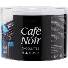 Café Noir chokolade, mørk og lys, 150 stk. ass.