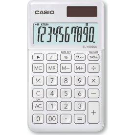 Casio SL-1000TW bordregner, hvid
