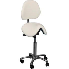 CL Dalton sadelstol m/ ryglæn, blå, stof