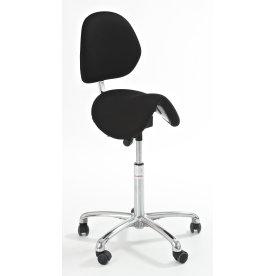 CL Dalton sadelstol m/ ryglæn, sort, stof