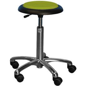 CL Micro stol, hvid, kunstlæder, 47-66 cm