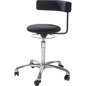 CL Saturn stol, sort, kunstlæder, 49-69 cm