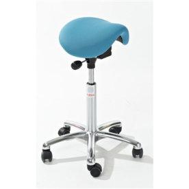 CL Mini sadelstol, blå, stof, 58-77 cm
