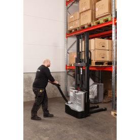 Fuld-elektrisk gåstabler, 2700 mm, 1000 kg
