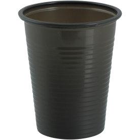 Drikkebæger i plast, 18 cl, sort