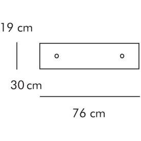 ABC Skuffe, bred 76x30 cm, hvidlaseret
