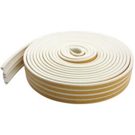 Selvklæbende tætningsliste, P-form, hvid, 24 m