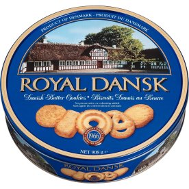 Royal Danish Butter Cookies i metaldåse, 908g