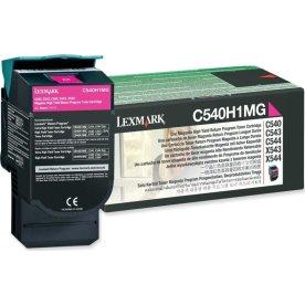 Lexmark C540H1MG lasertoner, rød, 2000s