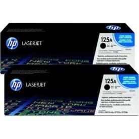 HP nr.125A/CB540AD, 2 x lasertoner, sort