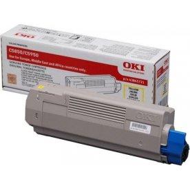 OKI 43865721 lasertoner, gul, 6000s