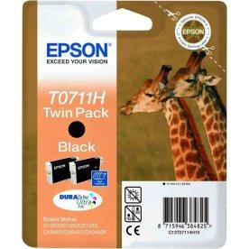 Epson T0711H/C13T07114H10 blækpatron, sort, 2-pak