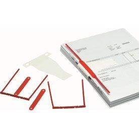 Bantex D-binder arkiveringsclips, rød