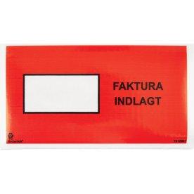Følgeseddelslomme Faktura Indlagt, C65, 1000 stk.