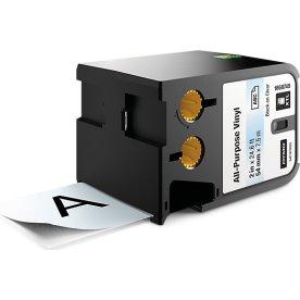 Dymo XTL, vinyltape, 54 mm, sort på klar