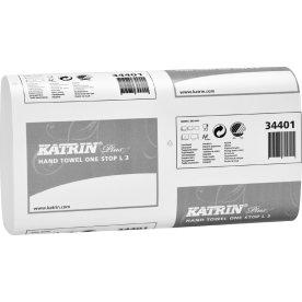 Katrin Plus L håndklædeark, 3-lags, hvid