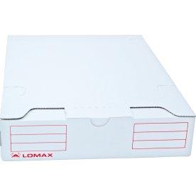 Lomax arkivboks A4, hvid