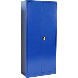 Værkstedsskab, 4 hylder, (BxDxH) 80x38x180cm, blå