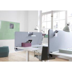 Softline Light bordskærmvæg 160x65 cm Lys grå