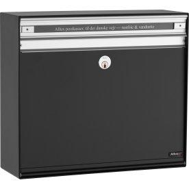 Allux SC135 Systempostkasse, sort stål